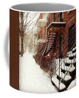 Snowstorm In Montreal Coffee Mug
