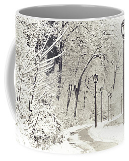 Snowstorm On Lincoln Memorial Drive Coffee Mug
