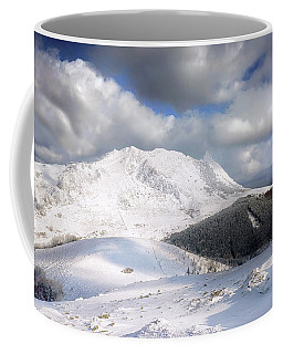 snowy Anboto from Urkiolamendi at winter Coffee Mug