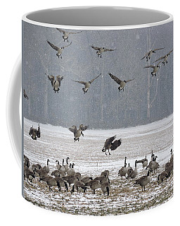 Snowy Approach Coffee Mug