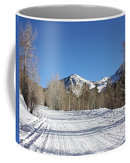 Coffee Mug featuring the photograph Snowy Aspen by Kim Hojnacki