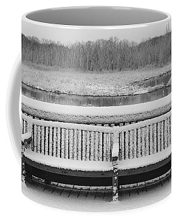 Snowy Bench Coffee Mug