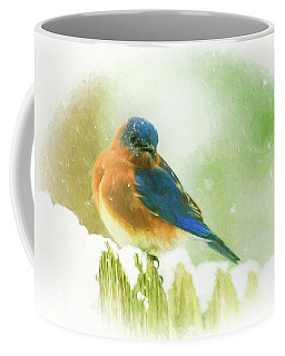Coffee Mug featuring the photograph Snowy Bluz by Ola Allen