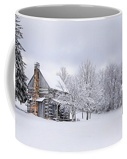 Snowy Cabin Coffee Mug