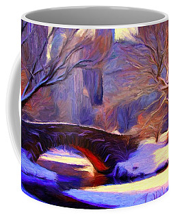 Snowy Central Park Coffee Mug by Caito Junqueira