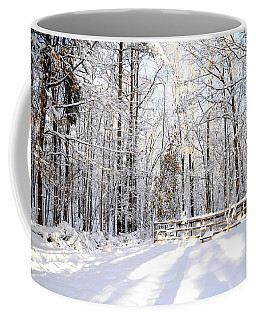 Snowy Chicken Coop Coffee Mug