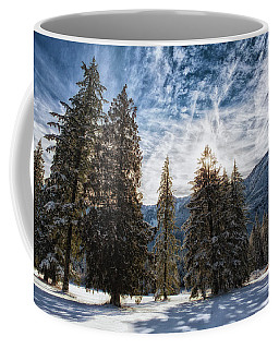 Snowy Clouds Coffee Mug