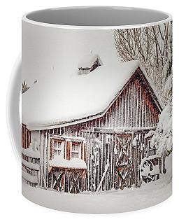 Snowy Country Barn Coffee Mug