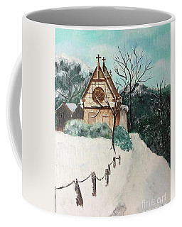 Coffee Mug featuring the painting Snowy Daze by Denise Tomasura