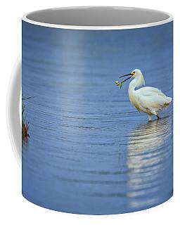 Snowy Egret At Dinner Coffee Mug