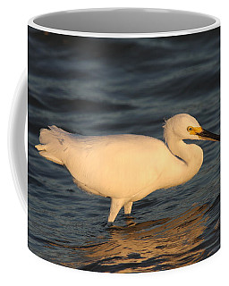 Coffee Mug featuring the photograph Snowy Egret By Sunset by Christiane Schulze Art And Photography