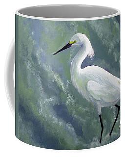 Snowy Egret In Water Coffee Mug
