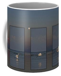 Snowy Egret Moon Coffee Mug