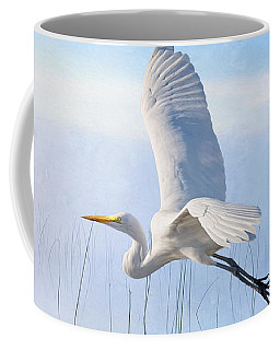 Snowy Egret Morning Coffee Mug