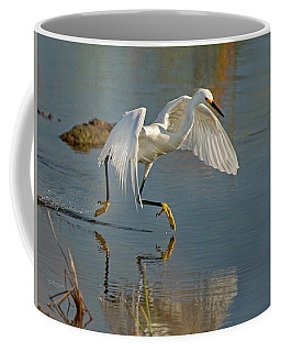 Snowy Egret On The Move Coffee Mug