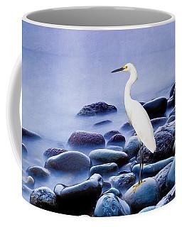 Snowy Egret On The Rocks Coffee Mug