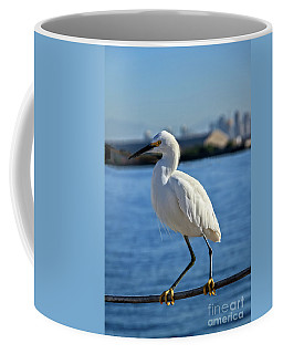 Coffee Mug featuring the photograph Snowy Egret Portrait by Robert Bales