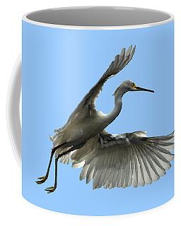 Snowy Egret Reflection In Lake Coffee Mug