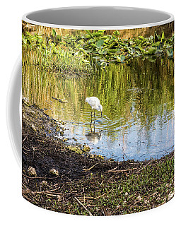 Snowy Egret Reflections Coffee Mug