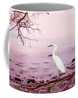 Snowy Egret Solitude Coffee Mug