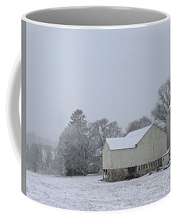 Coffee Mug featuring the photograph Winter White Farm by Melinda Blackman