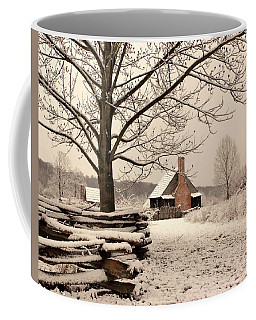 Snowy Farm House Coffee Mug
