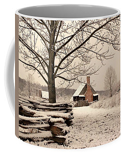 Snowy Farm House Coffee Mug