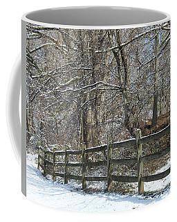 Winter Fence Coffee Mug