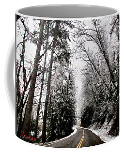 Snowy Kapowsin Wa Road Coffee Mug by Sadie Reneau
