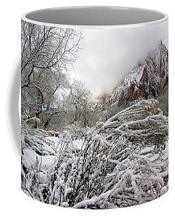 Snowy Mountains In Zion Coffee Mug