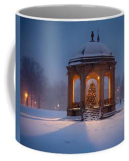Snowy Night On The Salem Common Coffee Mug