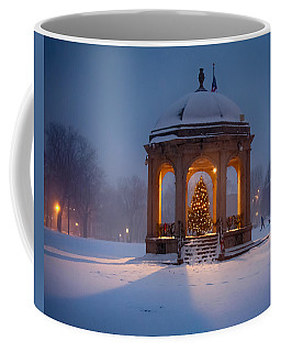 Coffee Mug featuring the photograph Snowy Night On The Salem Common by Jeff Folger