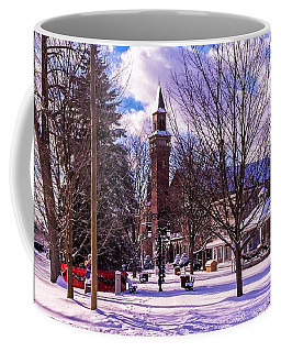 Snowy Old Town Hall Coffee Mug