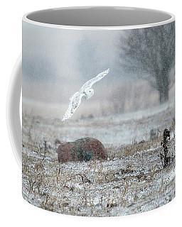Snowy Owl In Flight 3 Coffee Mug