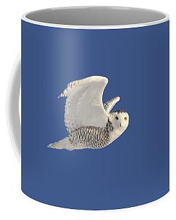 Snowy Owl In Flight Coffee Mug