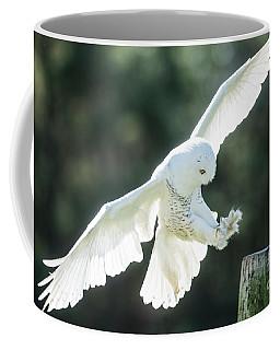 Snowy Owl Landing-2755 Coffee Mug