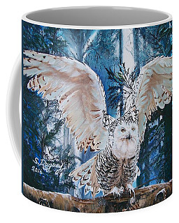 Snowy Owl On Takeoff  Coffee Mug
