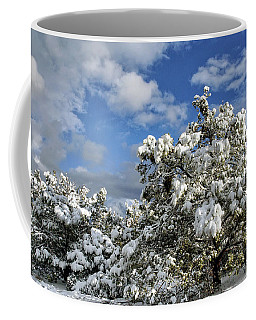 Snowy Pine Boughs Coffee Mug