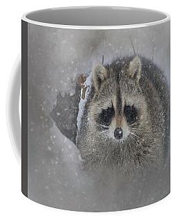 Snowy Raccoon Coffee Mug