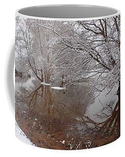 Snowy Reflection In Bow Coffee Mug