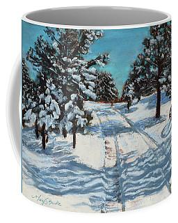 Snowy Road Home Coffee Mug