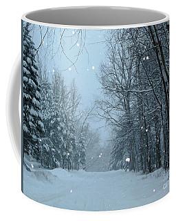 Coffee Mug featuring the photograph Snowy Street by Rockin Docks Deluxephotos