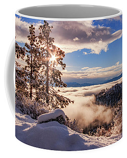 Snowy Sunrise Over The Inverted Valley Coffee Mug