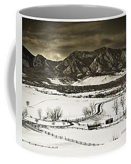 Snowy Sunset Coffee Mug