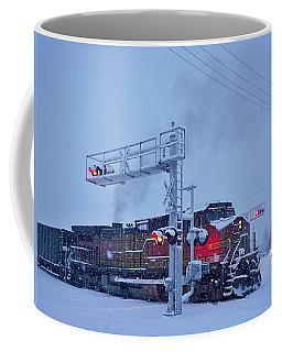 Snowy Train Crossing  Coffee Mug