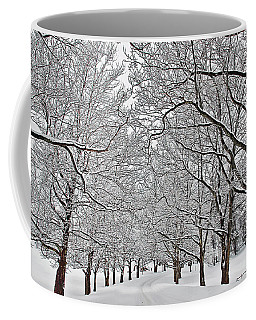 Snowy Treeline Coffee Mug by Aimee L Maher Photography and Art Visit ALMGallerydotcom