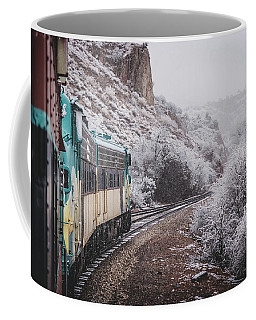 Coffee Mug featuring the photograph Snowy Verde Canyon Railroad by Andy Konieczny