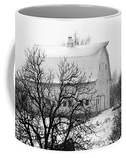 Snowy White Barn Coffee Mug