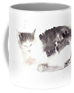 Snuggling Cat Coffee Mug