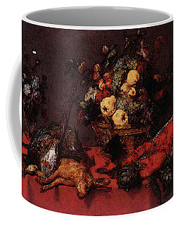 Snyders Frans Still Life With A Basket Of Fruit Coffee Mug